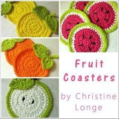 Make It Crochet | Your Daily Dose of Crochet Beauty | Free Crochet Patterns: Fruit Coasters: