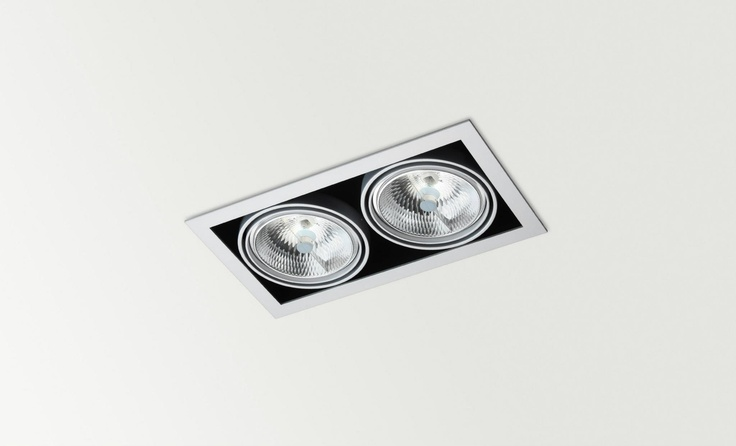 ORBITAL x2, QR, LED or CDMR - Halogen, LED or metal halide luminaire. Ceiling downlight (Ceiling Recessed) — in Arkoslight.