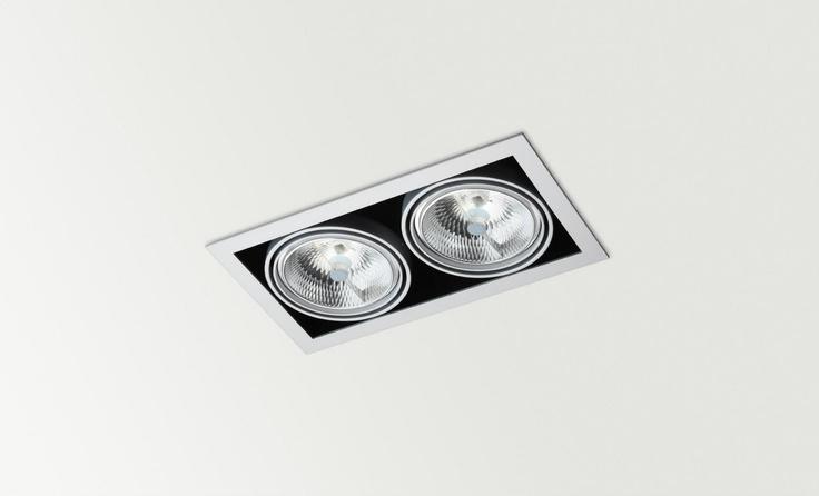 ORBITAL x2, QR, LED or CDMR - Halogen, LED or metal halide luminaire. Ceiling downlight (Ceiling Recessed) — in Arkoslight.