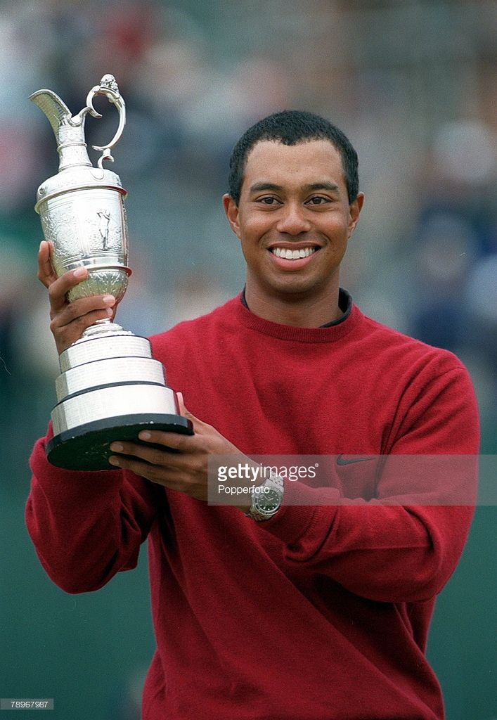 Golf, 2000 British Open Golf Championship, St, Andrews, Scotland, 23rd July 2000, Tiger Woods, USA with the trophy
