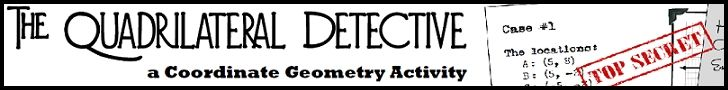 Get your students involved in a mystery... ok, well at the very least they'll be doing coordinate geometry, properties of quadrilaterals, area, and paragraph proofs with too much complaining.