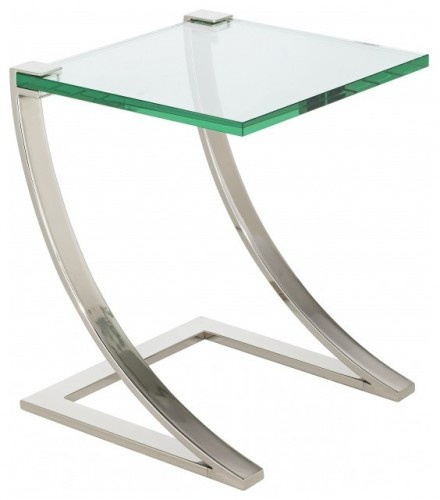 Uptown Floating Glass End Table Modern Side Tables And Accent Tables