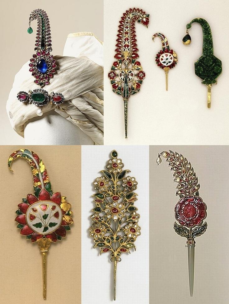 Mughal turban ornaments.