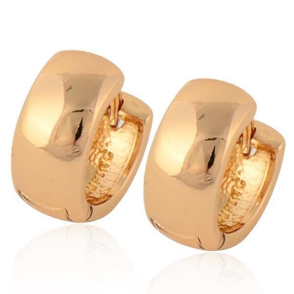GUSSIARRO Free Shipping Wholesale Cheap Smooth18K Yellow Gold-Color Women's Hoop Earrings for Women No Nickel