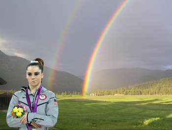 McKayla is not impressed by the double rainbows
