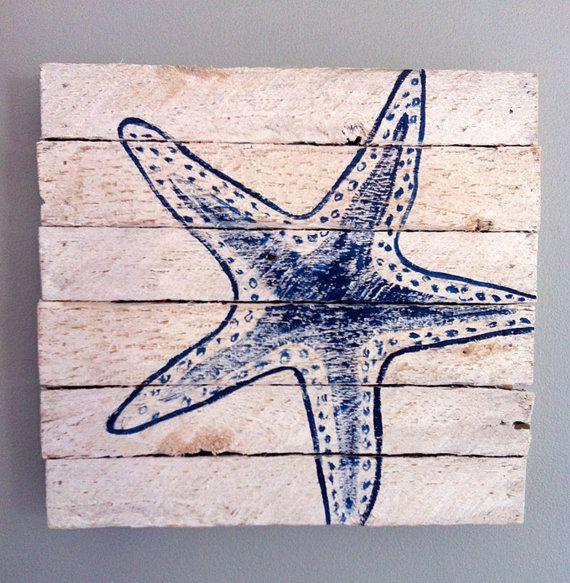 Painted starfish 12x12