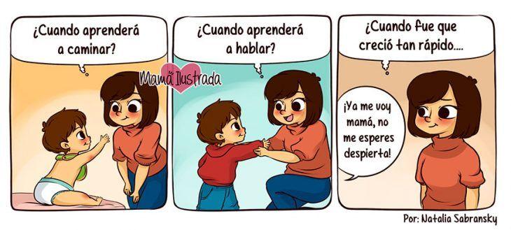 Ilustración lo que es ser mamá