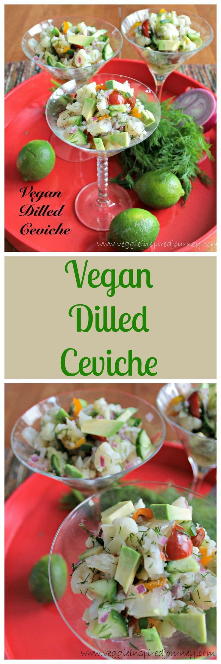 Vegan Dilled Ceviche - this easy plant based ceviche would be a delicious and gorgeous start to any meal!