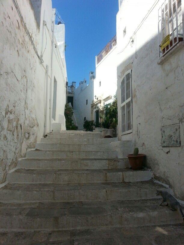 #Ostuni #beautiful #streets #Puglia #Italy