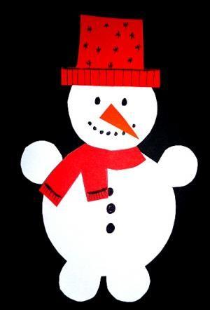 schneemann girlande fürs fenster - weihnachten-basteln