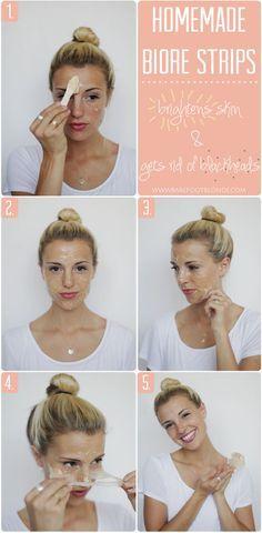 Homemade biore nose strips for blackheads - Amy Carhartt