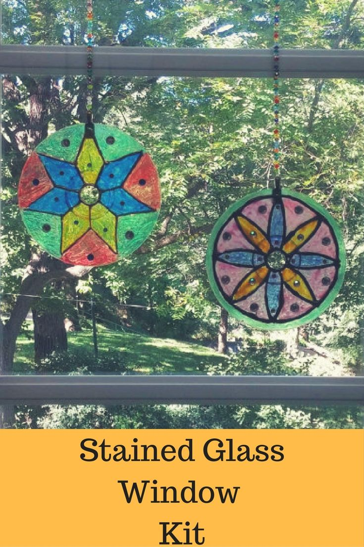 7 Stained Glass Mandala Kit Easter Craft Garden Decor Mandala
