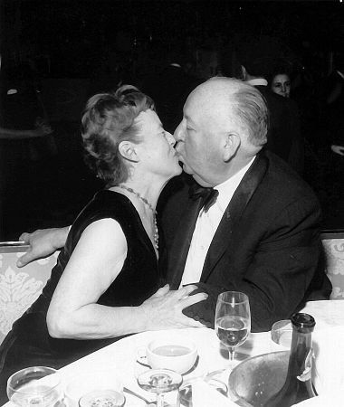 Alfred Hitchcock with Alma Hitchcock c. 1960...The Genuis Director and His Wife...Decades Together In Life & Work...