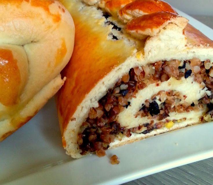 Kuchnia moją przyjaciółką: Kulebiak litewski z kaszą i borowikam