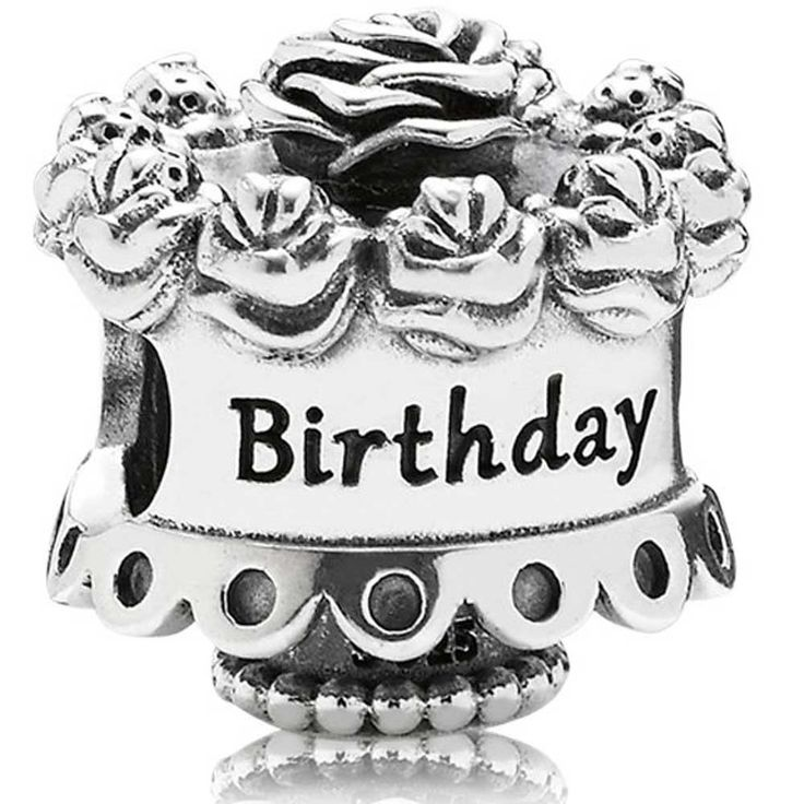 2016 Pandora Silver Birthday Cake Charm 791289