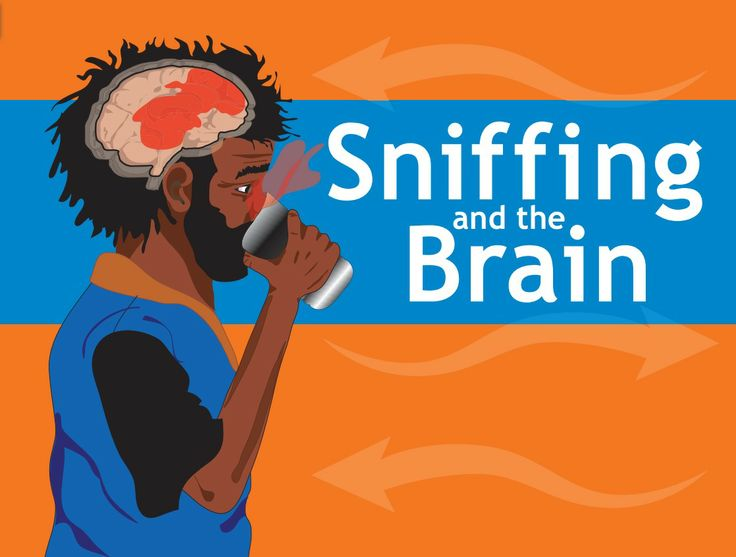 Sniffing and the brain - flipchart about inhalant use