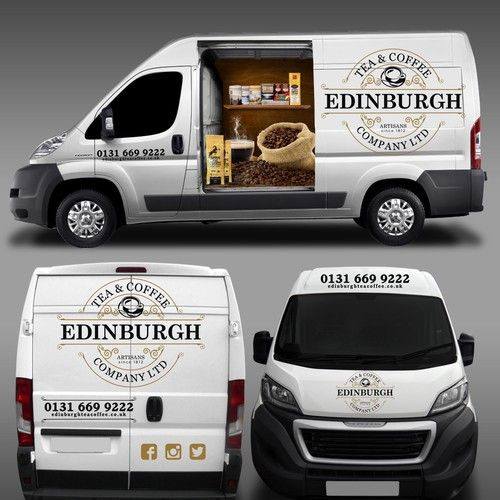 Design a show stopping van wrap for edinburgh tea and coffee co design by masterwrap