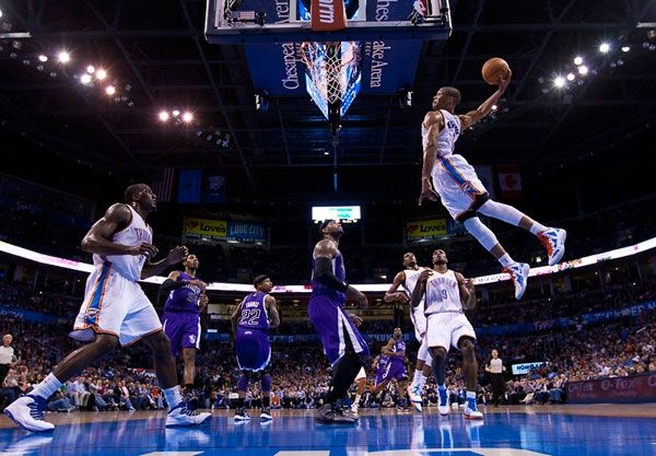 What a play! (And the picture's pretty great, too.) Miss this Russell Westbrook dunk? Check out the video: http://on.nba.com/IQKtr1