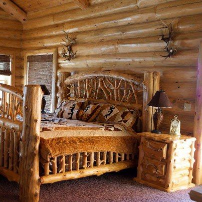 Stunning Log Home Bedrooms Contemporary - House Design Ideas ...