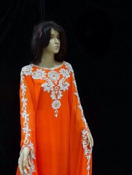 New Dubai Farasha Moroccan Kaftan Dress Abaya Jilbab Islamic Arabian Clothing   eBay