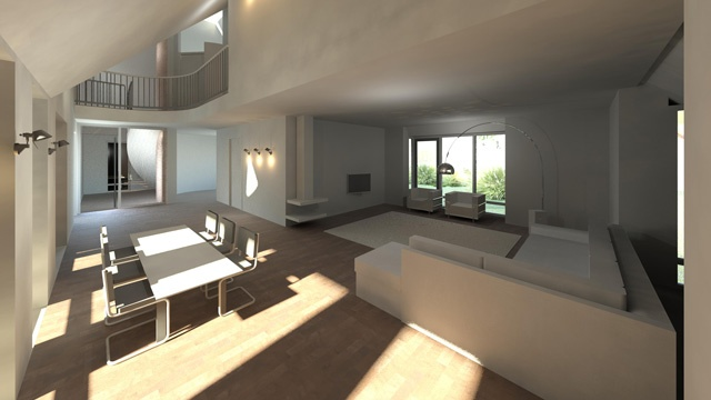 Interior design for a residential in Nootdorp (NL) by Room for architecture #Revit #Render #Interiors