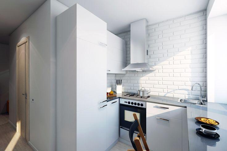 Белая кирпичная плитка может украсить кухню как в скандинавском стиле, так и в современном. Мы собрали для вас 25 примеров, доказывающих, что белый цвет — это не скучно.