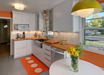 Mid-century Modern Kitchen - Midcentury - Kitchen - minneapolis - by Christine Nelson Design
