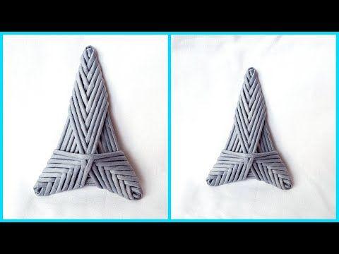 Трехгранная звезда-елочка из газетных трубочек! Подробный МК! | oblacco
