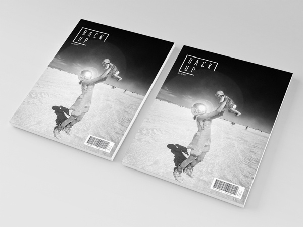 Back Up Magazine Brand Redesign by Paul Smile, via Behance