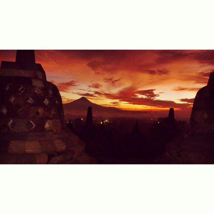 Borobudur, Java, Indonésie.