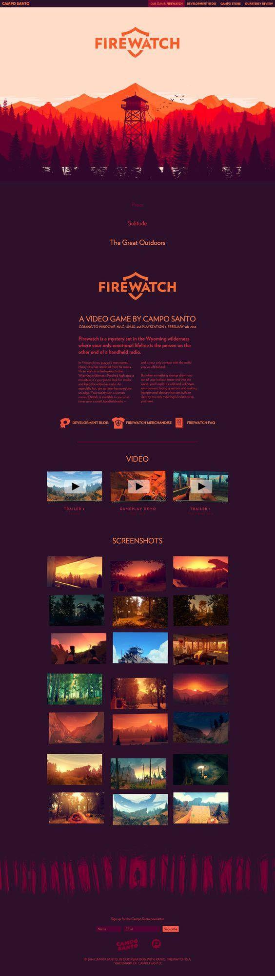 video game website design