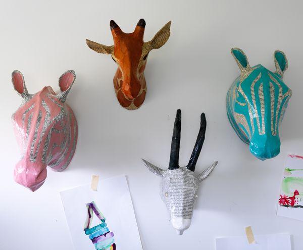 Papier Mach Le Retour Animal Headskids Roomsbaby