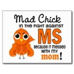 Milliseconde folle de sclérose en plaques de maman carte postale.