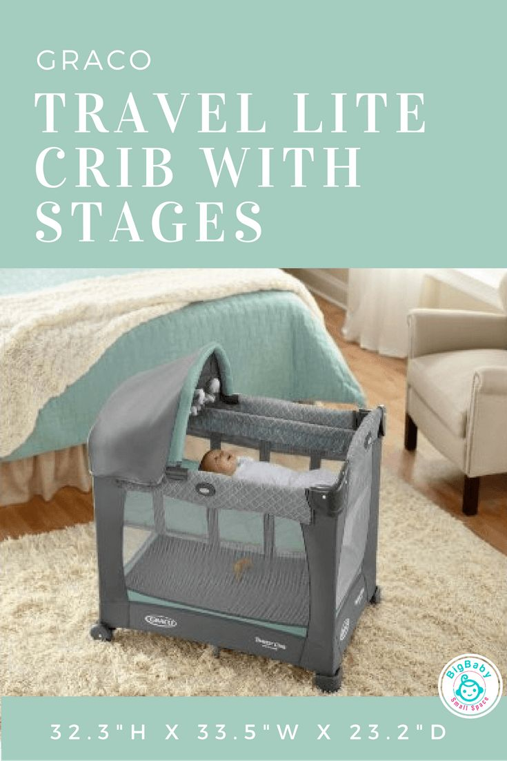 Baby cribs big w - Graco Travel Lite Crib With Stages Big Baby Small Space