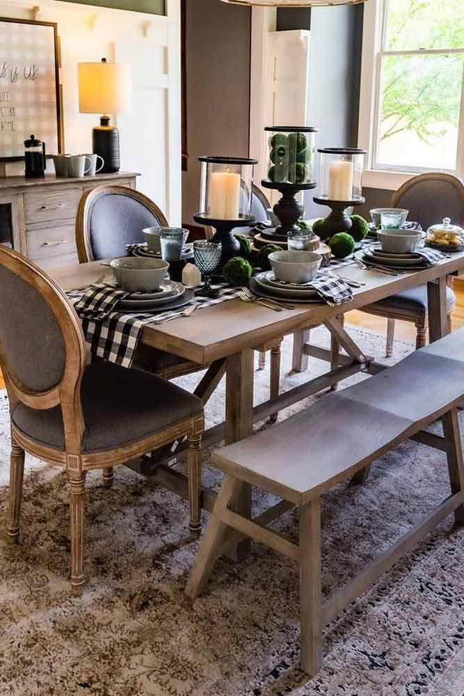 27 Popular Farmhouse Table Ideas To Use In The Decor In 2020 Wood Dinner Table Farmhouse Dining Table Rustic Kitchen Tables
