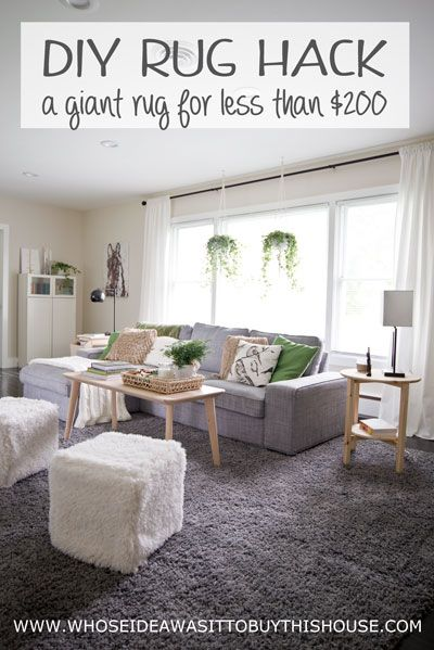 How to get a large rug for cheap! :)