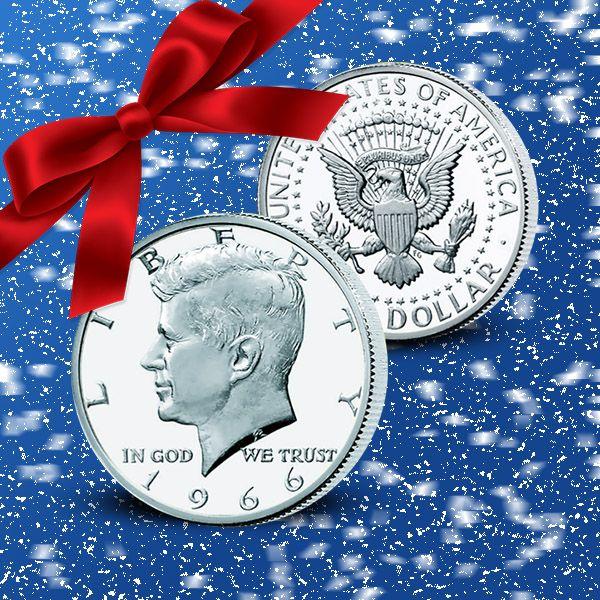 John F. Kennedy minnesmynt, silverhalvdollar