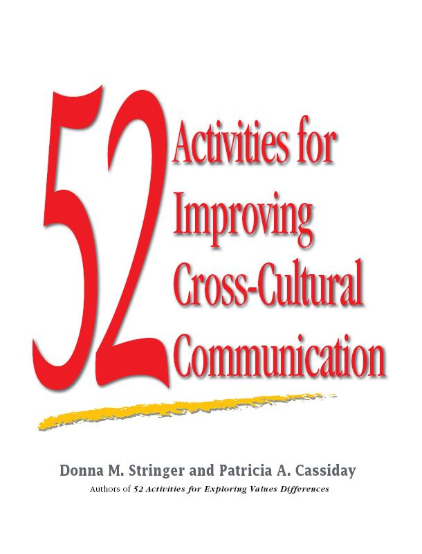 Activities for cross-cultural communication including work place exercises