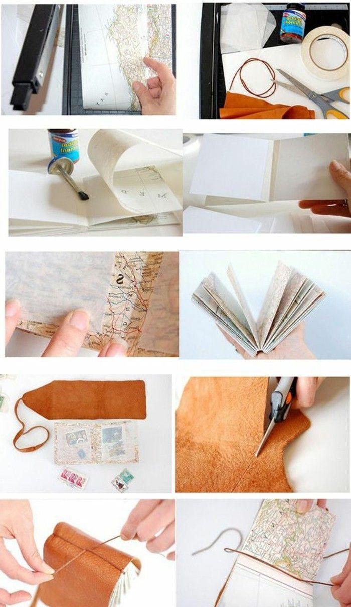 Comment faire un carnet de voyage?, préparations, ciseaux, papier, coudre