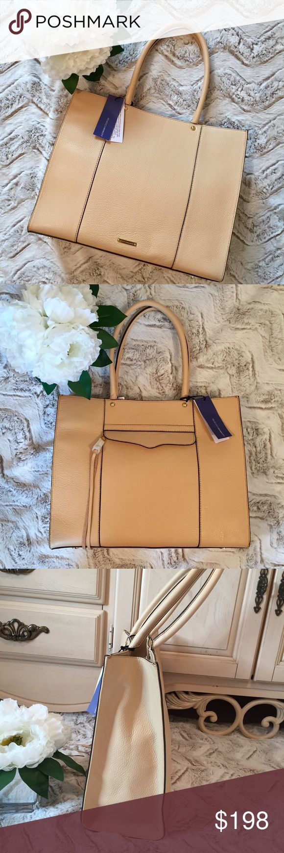 """🆕REBECCA MINKOFF PURSE TOTE BAG MEDIUM BISCUIT🆕 NEW WITH TAGS REBECCA MINKOFF medium tote in a neutral color called """" biscuit"""".  Please see pictures for measurements.  Suggested Retail is $265.00.  NCMCOLLECTIONS 💐👜 Rebecca Minkoff Bags Totes"""