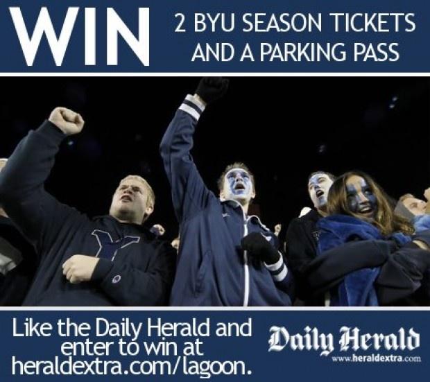 Win two BYU football season tickets - Enter by July 15.