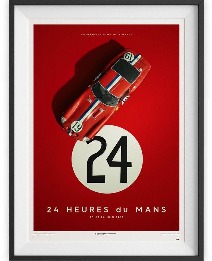 Ferrari 250 GTO - Le Mans 1962 Poster – Petrolicious