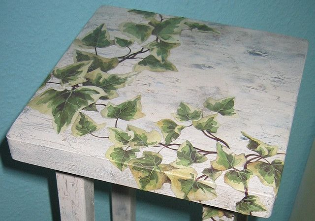decoupage furniture | Decoupage furniture: top | Flickr - Photo Sharing!