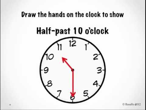Telling Time to the Half Hour - YouTube