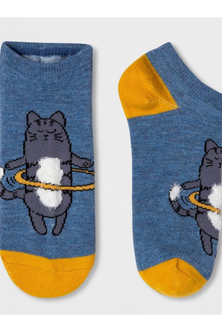 a1852d66e2d Cute Cat and a Hula Hoop ~ Express yourself with these fun and classic women s  cat low cut casual socks made by Xhilaration™ ~ Polyester Spandex low cut  ...
