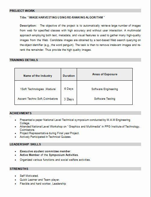 Resume Format For M Pharm Freshers - Resume Format For Pharmacy