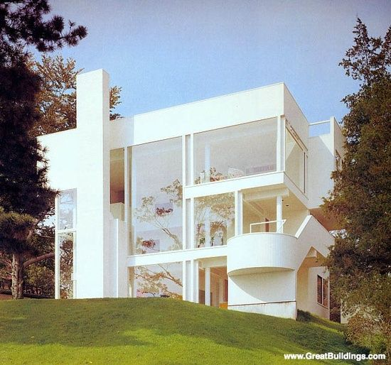 Smith House, Darien, Connecticut by Richard Meier 1965 to 1967