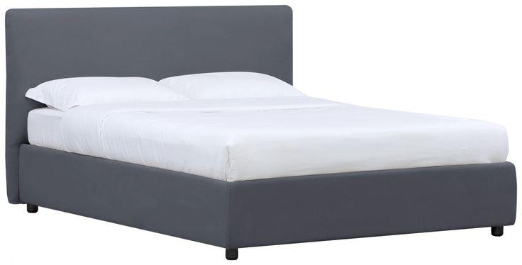 Bett mit Bettkasten Grau 160x200