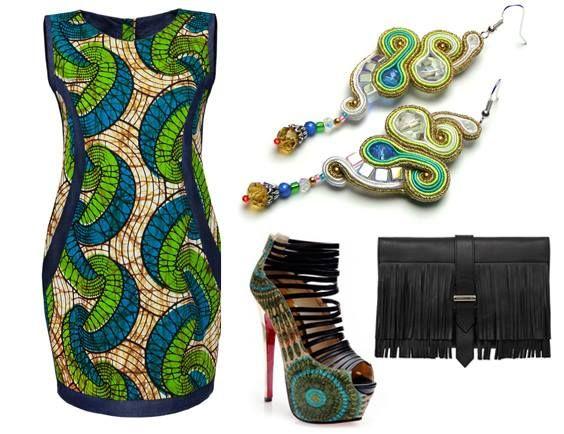 I jeszcze jedna propozycja na wiosnę Sukienka - maiko by Aleksandra Majczyna Kolczyki - Sutasz-Anka by Agnieszka Trojan Buty - Veaul Torebka - Karen Millen  #africanstyle #sukienka #dress #earrings #boho #soutache #maiko #sutaszanka #africanfasion