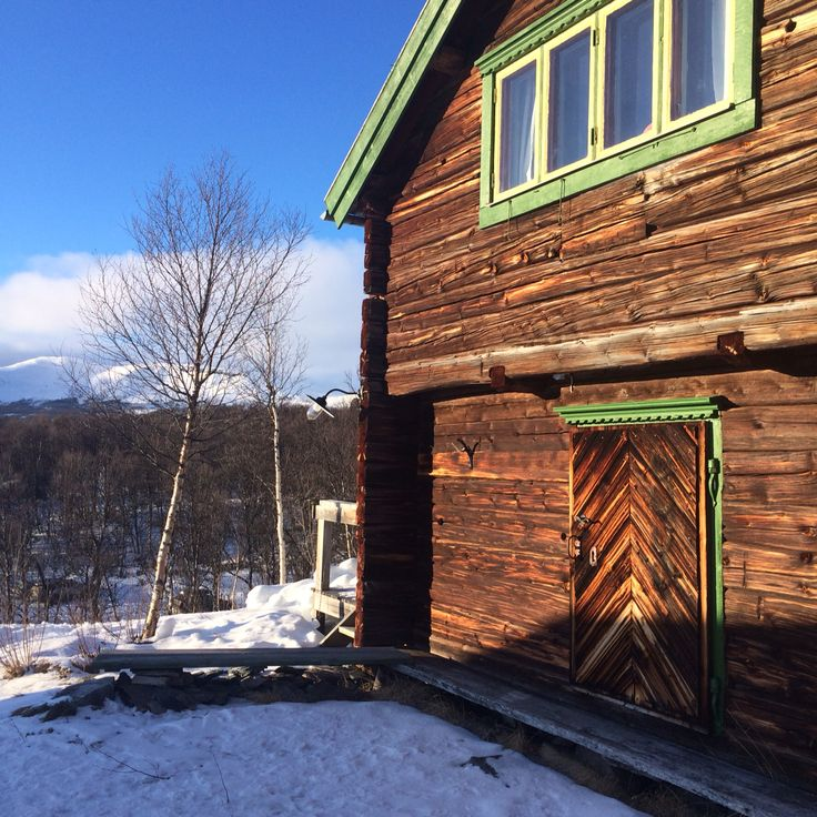 Our little loghouse in Tänndalen. An old timber cottage moved from Hälsingland